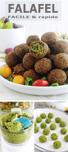 Lebanese falafel recipe based on chickpeas mixed with onion, garlic, spices and herbs. This homemade version is better than the commercial one! Easy and quick to make, falafels are gluten-free. It is also a vegetarian and vegan recipe. Quick Vegetarian Meals, Vegetarian Appetizers, Quick Meals, Appetizer Recipes, Lebanese Falafel Recipe, Lebanese Recipes, Italian Recipes, Tapas, Healthy Recipes