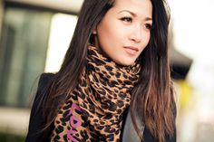Leopard scarf: i've coveted this since seeing it on the '25 ways to wear a scarf' video!