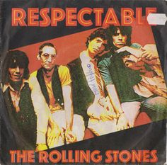 """ROLLING STONES Respectable 1978 Portugal Issue Rare 7"""" 45 rpm Vinyl Single Record Rock Blues 70s Jagger Richards 8E00661720F Free S&h"""