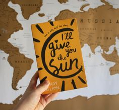 """""""I didn't know you could get buried in your own silence."""" I'll give you the sun"""