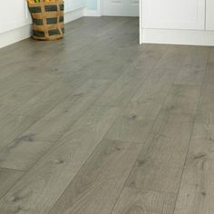 Professional V Groove Dark Grey Oak Laminate | Howdens Professional Fast  Fit V Groove Flooring |