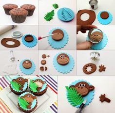 Diy Projects: DIY Monkey Cupcakes