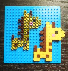 Giraffe perler beads