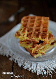 Gaufres salées Pomme de terre - Comté - Cuisiner... tout Simplement, Le Blog de cuisine de Nathalie
