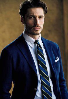 【3】サルヴァトーレ ピッコロの白シャツ Story Characters, Suit Fashion, Male Models, Gentleman, Blazers, Poses, Suits, Chic, Business