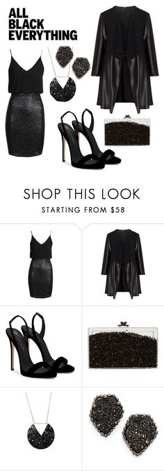 """""""All Black Everything"""" by siarram on Polyvore featuring TFNC, Mat, Giuseppe Zanotti, Ashlyn'd and Kendra Scott"""