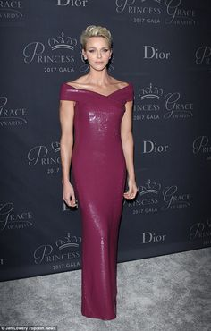 Princess Charlene looked incredible in a glittering column gown at the Princess Grace Awards
