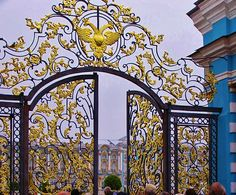 ~ Catherine Palace ~   .The Catherine Palace (Russian: Екатерининский дворец) is a Rococo palace located in the town of Tsarskoye Selo (Pushkin), 25 km south-east of St. Petersburg, Russia. It was the summer residence of the Russian tsars.