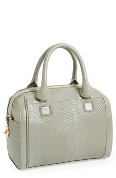 Topshop Snake Embossed Double Zip Satchel available at #Nordstrom