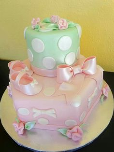 Darling!! Baby shower cake. I like this one @Kelly Maves ... simple yet cute. let me look at some more!