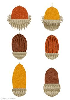 acorns // illustration Ryo Takemasa