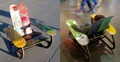 Treehouse Designs Skate Deck Chair.