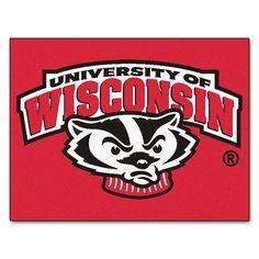 Wisconsin Badgers NCAA All-Star Floor Mat (34x45) Badger Logo