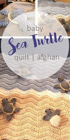 UPDATED With Pattern Links. Yeah!    This week I shared on Facebook a this super cute Sea Turtles Crocheted baby afghan that PJ's Desi...