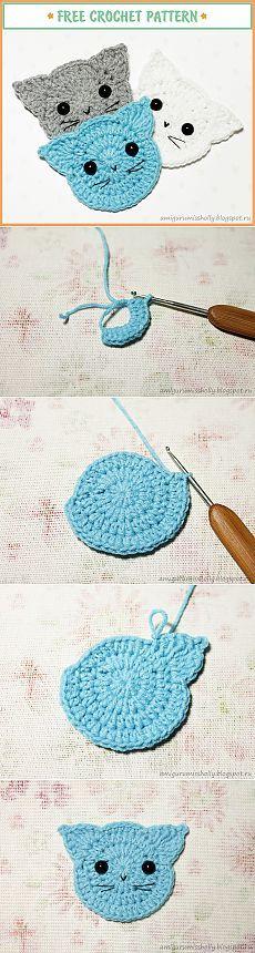 Аппликация Кот крючком. Описание вязания. :: Amigurumi by Miss Holly
