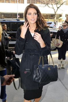Ashley Green with Chanel CC Crown Tote Bag from Cruise 2013