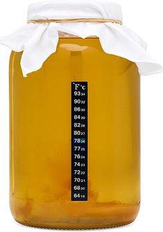 kitchentoolz Kombucha Starter Kit mit Premium-Scoby Starter - Gallon Brewing Jar und Kunststoff-Deckel. Teebeutel Temperaturanzeige Bio-Zucker und vieles mehr Kombucha, Popcorn Maker, Kitchen Appliances, Household, Diy Kitchen Appliances, Home Appliances, Kitchen Gadgets