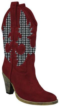 Alabama Crimson Houndstooth Volatile Boot
