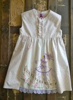 Vintage Embroidered Toddler Dress 2T by AnnaHeirloomBoutique