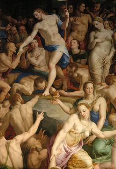Agnolo Bronzino - Italian, 1503/1572 - Costanza da Sommaia - Christ's descent into Limbo.