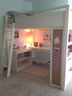 girl's loft bed-great space saver | Girls Rooms ...