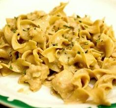 "Simple Ground Chicken Stroganoff: ""Super yummy! We served this over egg noodles and it was fantastic. My hubby said the leftovers were even better the next day."" -Chef #160516"