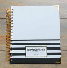 """Practically Perfect"" Weekly CoCo Stripe Purposeful Planner™"