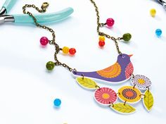Amazing Shrink Plastic Art Projects and Tutorials: Shrink Plastic Bird Charm Tutorial and Free Template