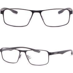 Full Rim Men's Womens Pure Titanium Frame Rectangular Prescription Glasses Black