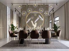 SHADES OF BEIGE on Behance Luxury Dining Room, Dining Room Design, Luxury Living, Dining Area, Dining Rooms, Shades Of Beige, Fireplace Design, Floor Design, Interior Inspiration