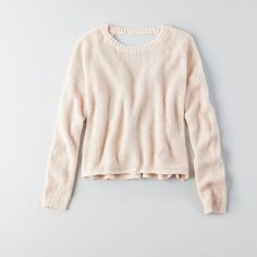 AEO Don?T Ask Why V-Neck Crop Sweater ($45) ❤ liked on Polyvore featuring tops, sweaters, just rosey, acrylic sweater, v neck sweater, v neck top, v neck crop top and cropped v neck sweater