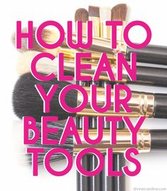 Yuck! Clean your beauty tools to stop spreading acne-causing bacteria.
