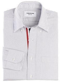 THOM BROWNE Classic Oxford Button Down Shirt w. Pinstripe $320.00 USD
