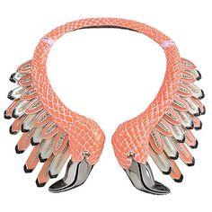 roberto cavalli flamingo necklace
