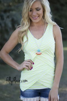 Layers on Layers Tank in Neon - An amazing tank from Filly Flair!