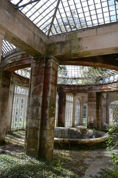 An abandoned greenhouse in Staffordshire, England, within the Alton Towers Gardens. ~ ₪•BE•₪ ~