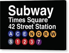 """Head to the heart of the city with the """"Times Square Subway Magnet!"""" This magnet is a subway sign that will show you which trains you need to be on to get there! Nyc Subway, Subway Map, New York Subway, Subway Signs, Cricket In Times Square, Times Square New York, New York Landmarks, Chicago, 42nd Street"""