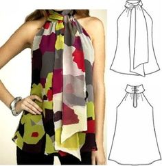 Amazing Sewing Patterns Clone Your Clothes Ideas. Enchanting Sewing Patterns Clone Your Clothes Ideas. Dress Sewing Patterns, Blouse Patterns, Clothing Patterns, Blouse Sewing Pattern, Fashion Sewing, Diy Fashion, Ideias Fashion, Tunic Pattern, Top Pattern