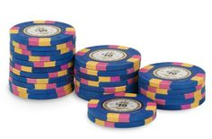 Rouleau de 25 jetons Tab Chips $10 Tab Chips - Pokeo.fr - Rouleau de 25 jetons de poker Tab Chips $10 bleu en clay 9,5g.