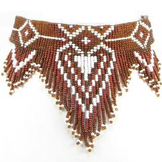 native american beaded chokers | Native Crafts Wholesale : Brown Seeing Eye Beaded Choker Necklace [WSB ...