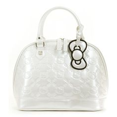 Hello Kitty Handbag, Quilted Bowler Bag ($51) ❤ liked on Polyvore featuring bags, handbags, hello kitty, purses, bowling bag, quilted handbags, bowler purse, quilted purse and imitation handbags