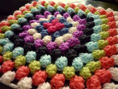 Granny Bobble Blanket: C                    I really want to start on one of these with my scrap yarns. It won't look anywhere near this pretty though.
