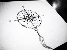 Dream Catcher Compass Tattoo, Compass Dreamcatcher Tattoo, Tattoos Compass…                                                                                                                                                                                 More