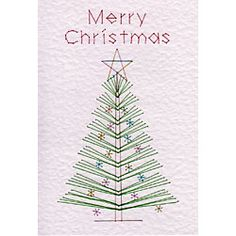 Tree Merry Christmas | Christmas patterns at Stitching Cards.