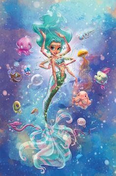 MermaDurga on Etsy, $30.00 Mermaid, Artist: Whitney Pollett