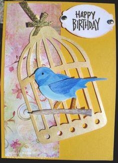 Cage and bird are Tim Holtz  dies.