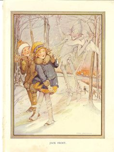 Vintage Original Anne Anderson Childrens Print Jack Frost 1925 Illustration. Ideal For Framing