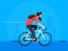 Cyclist hipster by Dirk Jan Haarsma #Design Popular #Dribbble #shots