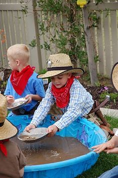 Cowboy Party Games & Presents!-Nugget Fever (panning for gold). (1) From: Restless Risa, please visit