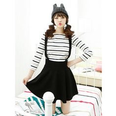 Buy 'Dodostyle – Band-Waist Jumper Skirt' with Free International Shipping at YesStyle.com. Browse and shop for thousands of Asian fashion items from South Korea and more!